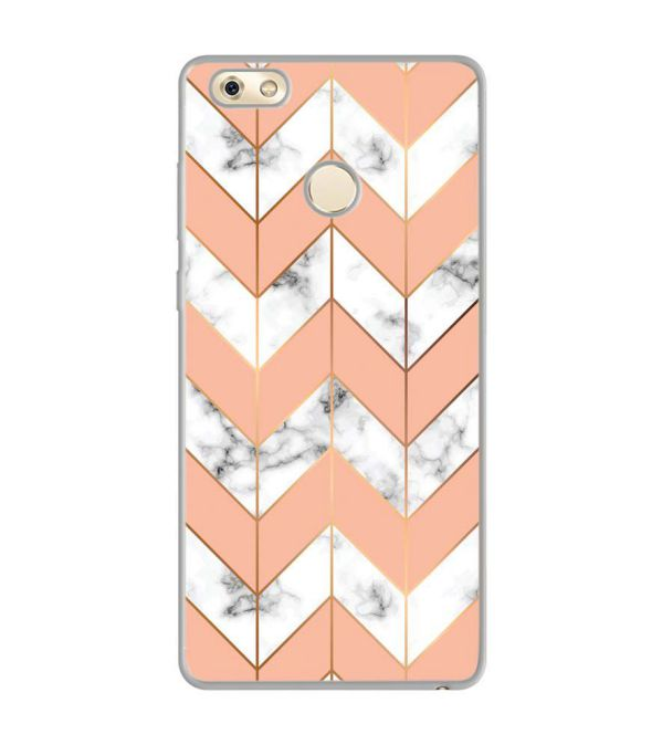 Printed Marble Pattern Soft Silicone Back Cover for Gionee M7 Power