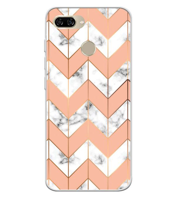 Printed Marble Pattern Soft Silicone Back Cover for Gionee S11 lite