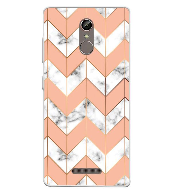 Printed Marble Pattern Soft Silicone Back Cover for Gionee S6s