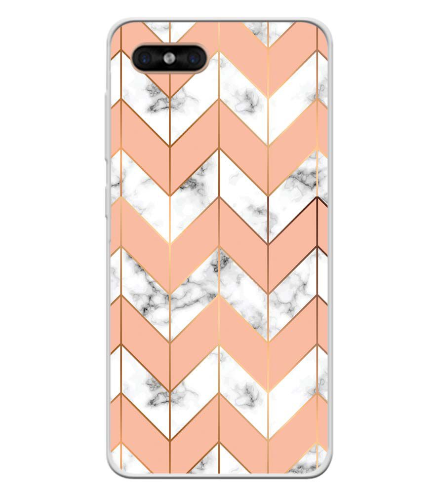 Printed Marble Pattern Soft Silicone Back Cover for Gome C7