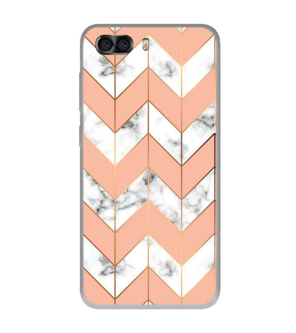Printed Marble Pattern Soft Silicone Back Cover for InFocus Turbo 5 Plus