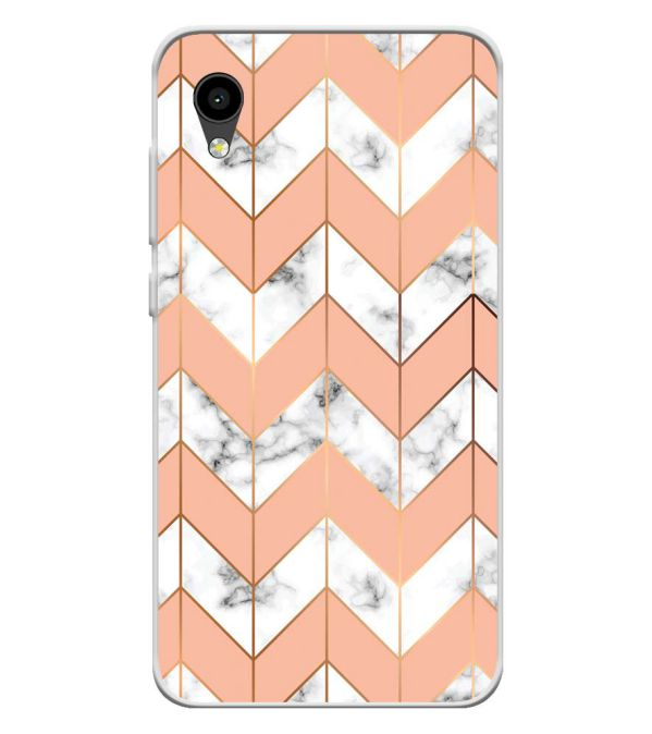 Printed Marble Pattern Soft Silicone Back Cover for Intex Aqua 4G Mini