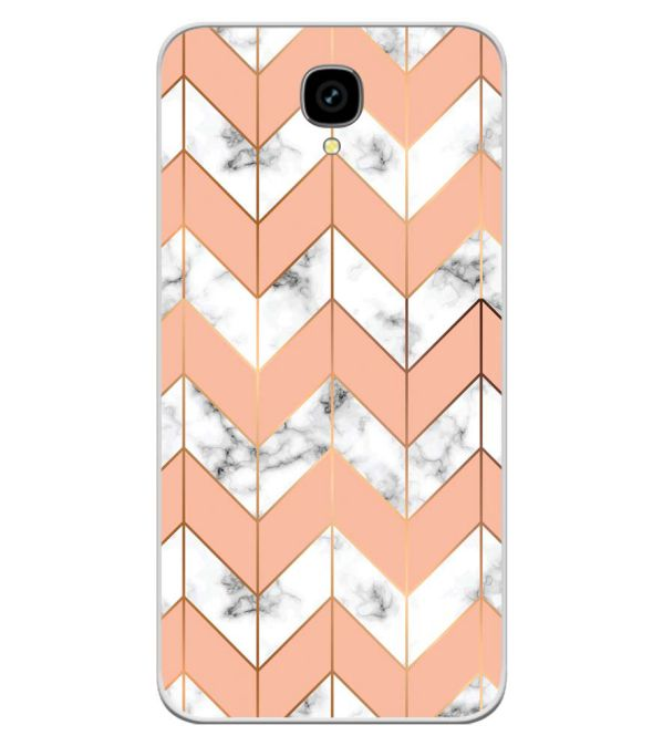Printed Marble Pattern Soft Silicone Back Cover for Intex Aqua Lions T1 Lite