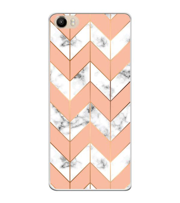 Printed Marble Pattern Soft Silicone Back Cover for Itel PowerPro P41