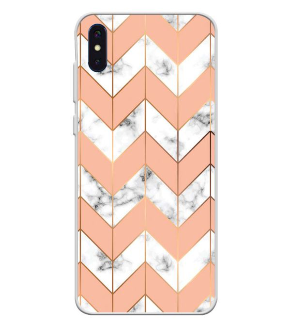 Printed Marble Pattern Soft Silicone Back Cover for iVoomi i2