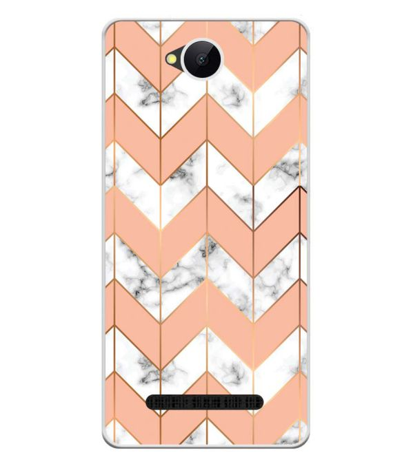 Printed Marble Pattern Soft Silicone Back Cover for Karbonn A45 Indian