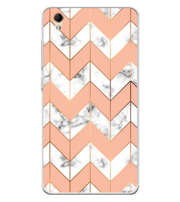 Printed Marble Pattern Soft Silicone Back Cover for Lava Z60
