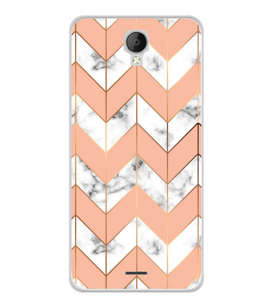 Printed Marble Pattern Soft Silicone Back Cover for Micromax Spark Go