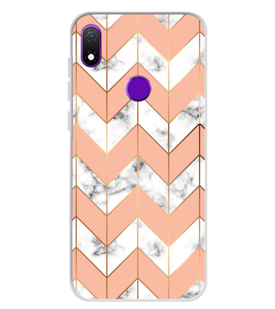 Printed Marble Pattern Soft Silicone Back Cover for Mobiistar X1 Notch