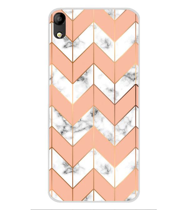 Printed Marble Pattern Soft Silicone Back Cover for Mobistar C1