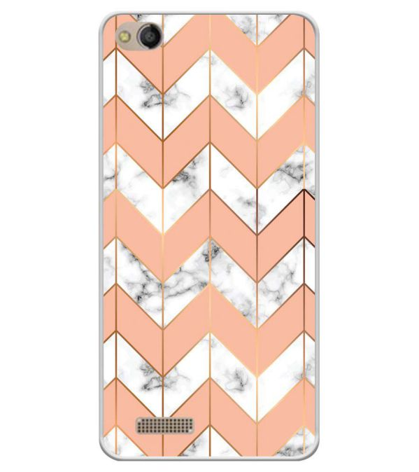 Printed Marble Pattern Soft Silicone Back Cover for Mobistar CQ Dual