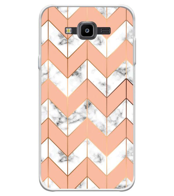 Printed Marble Pattern Soft Silicone Back Cover for Samsung Galaxy J7 Nxt