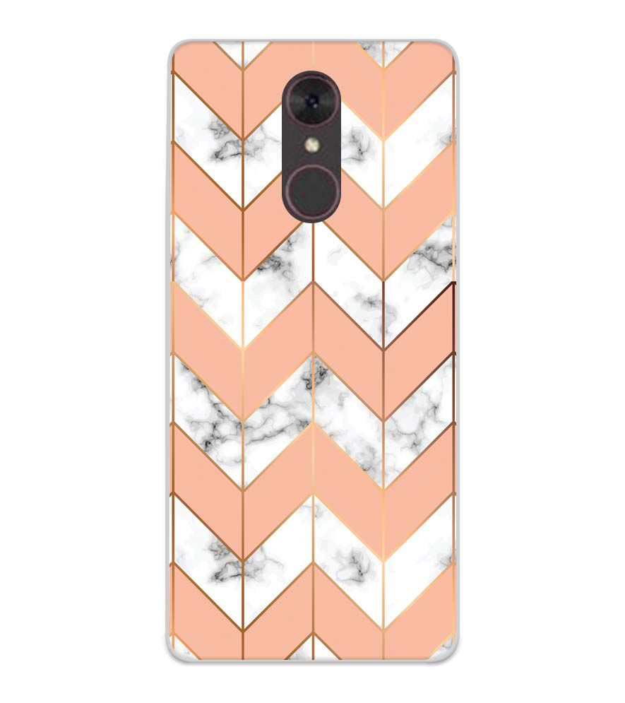 Printed Marble Pattern Soft Silicone Back Cover for Spice F311