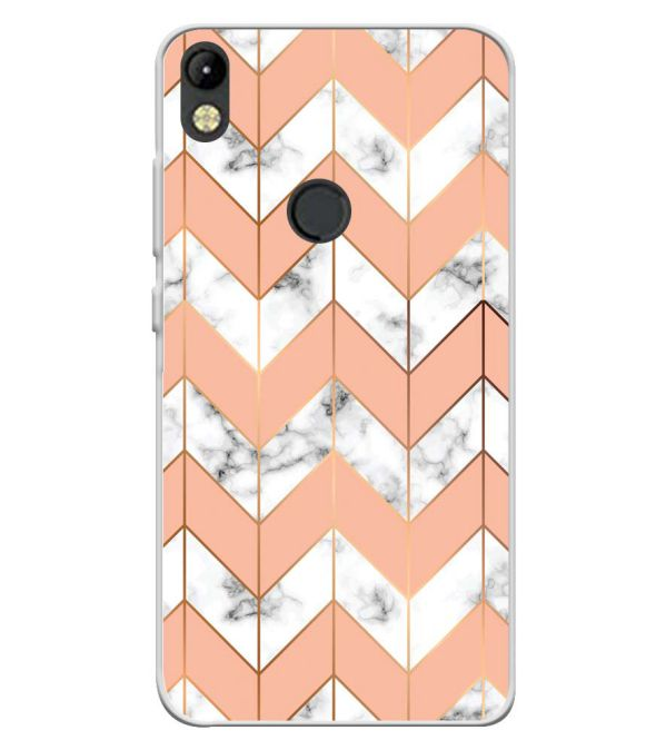 Printed Marble Pattern Soft Silicone Back Cover for Tecno Camon I
