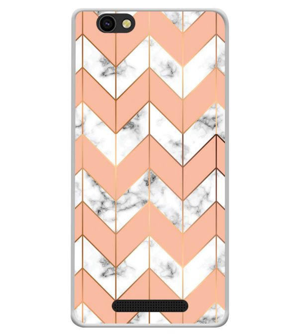 Printed Marble Pattern Soft Silicone Back Cover for Xolo ERA X