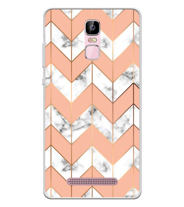 Printed Marble Pattern Soft Silicone Back Cover for Zen Admire Sense Plus