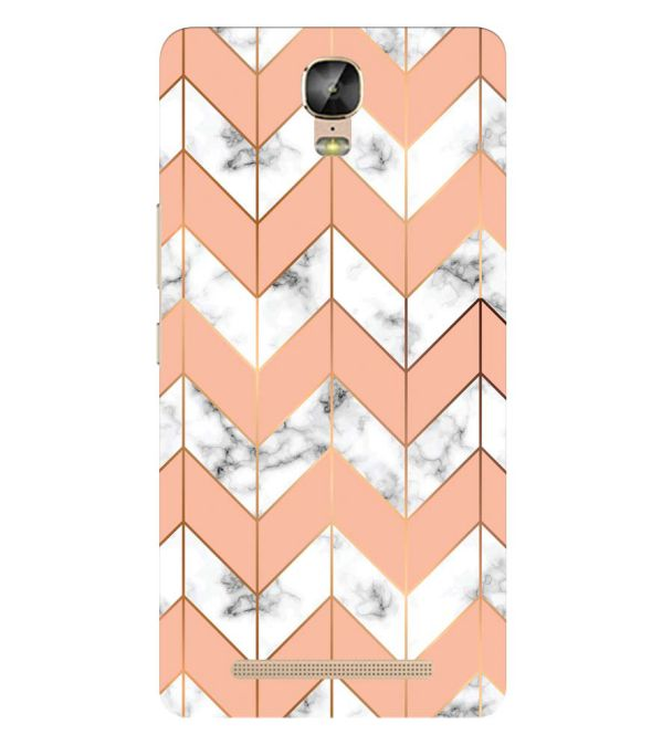 Printed Marble Pattern Back Cover for Gionee Marathon M5 Plus