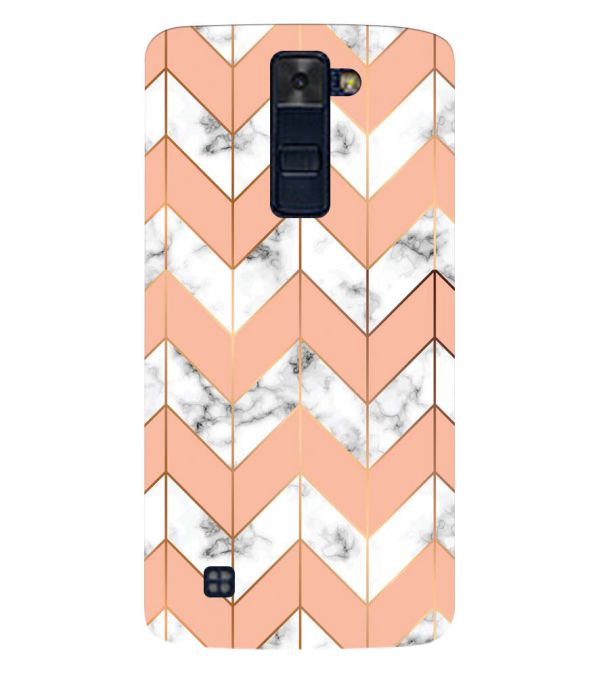 Printed Marble Pattern Back Cover for LG K8