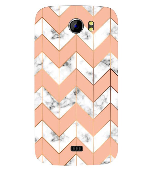 Printed Marble Pattern Back Cover for Micromax A110 Canvas 2