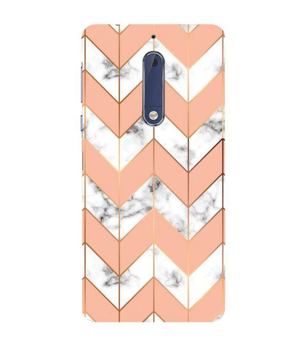 Printed Marble Pattern Back Cover for Nokia 5