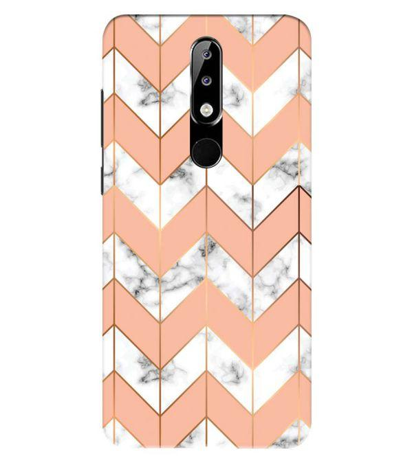 Printed Marble Pattern Back Cover for Nokia 5.1 Plus (Nokia X5)
