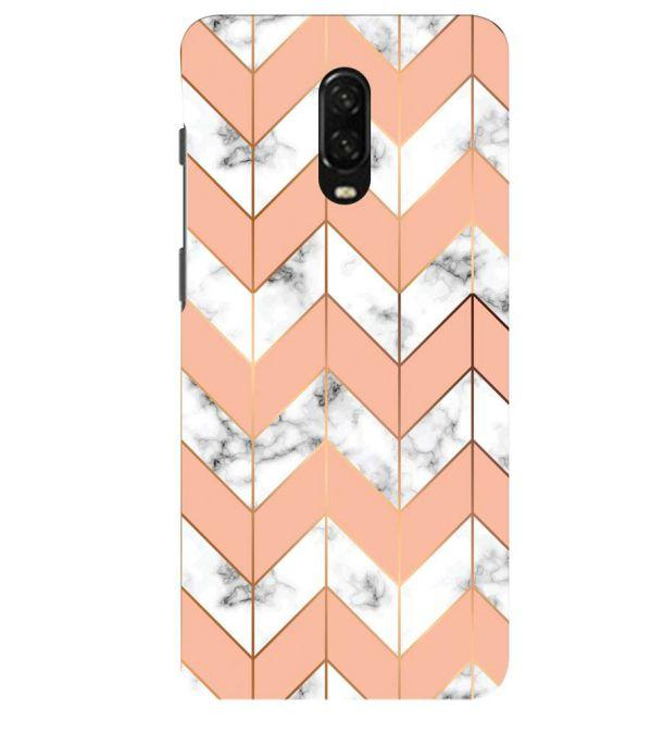 Printed Marble Pattern Back Cover for OnePlus 6T