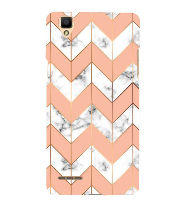 Printed Marble Pattern Back Cover for Oppo F1