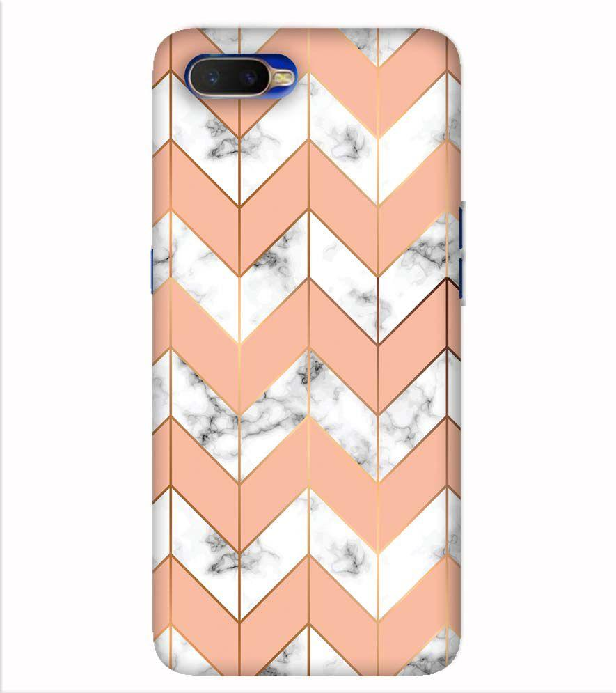 Printed Marble Pattern Back Cover for Oppo K1