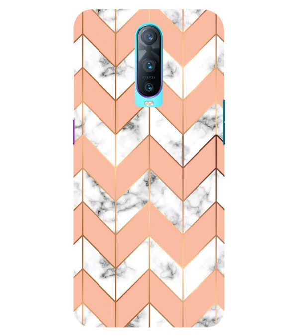 Printed Marble Pattern Back Cover for Oppo RX17 Pro