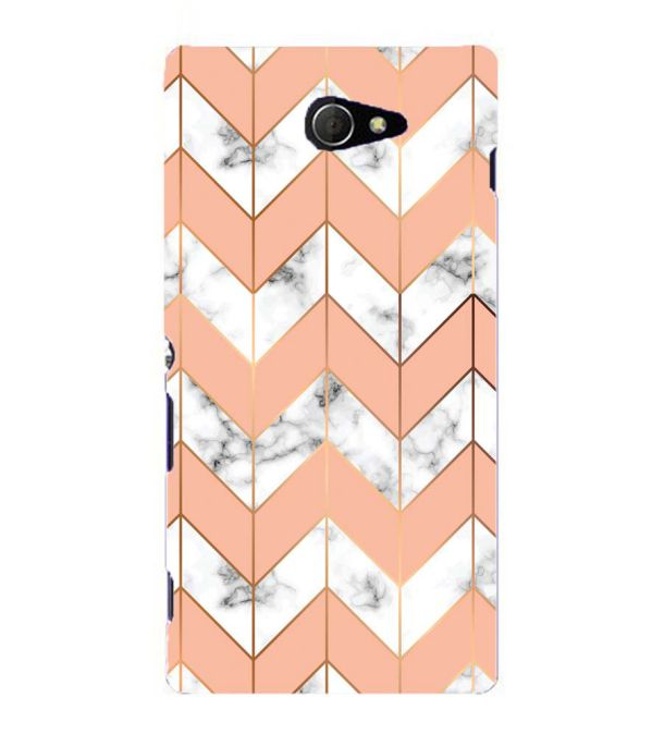 Printed Marble Pattern Back Cover for Sony Xperia M2