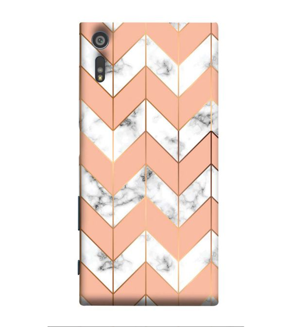 Printed Marble Pattern Back Cover for Sony Xperia XR