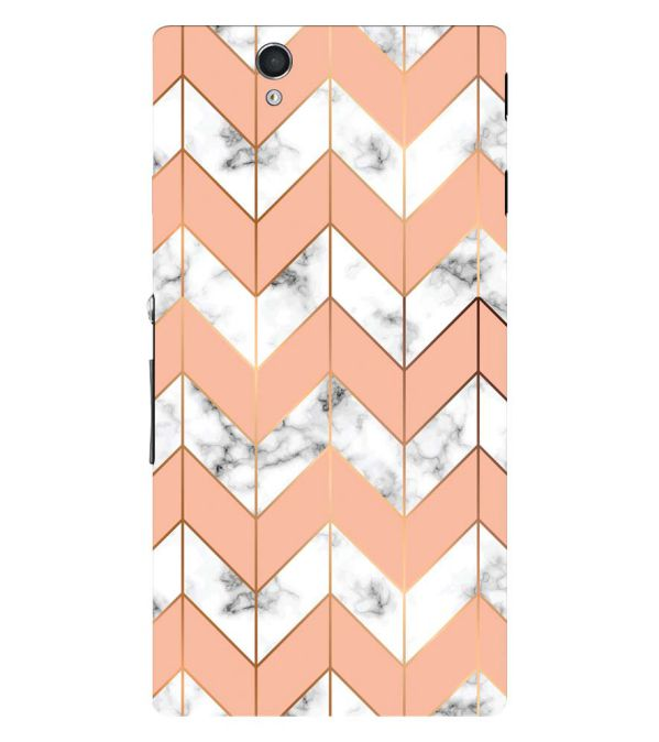 Printed Marble Pattern Back Cover for Sony Xperia Z