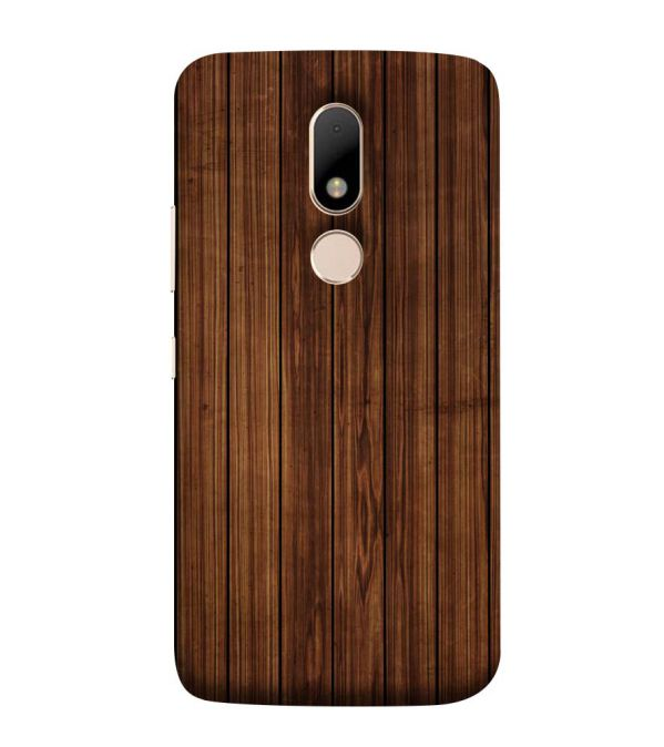 sports shoes 82c47 a1cff Printed Wooden Pattern Back Cover for Motorola Moto M