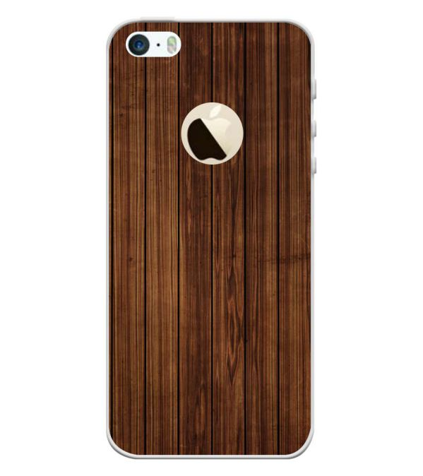 designer fashion 4d6fa 4623d Printed Wooden Pattern Back Cover for Apple iPhone 5 and iPhone 5S and  iPhone SE (Logo)
