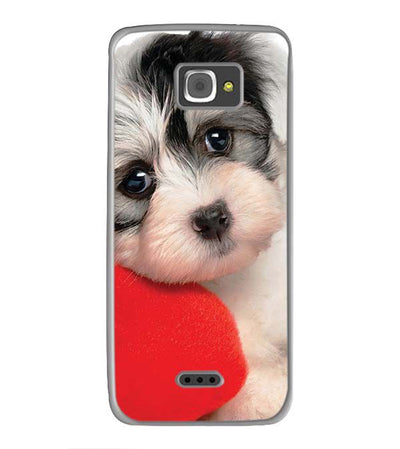 Puppy With Pillow Back Cover for InFocus M350