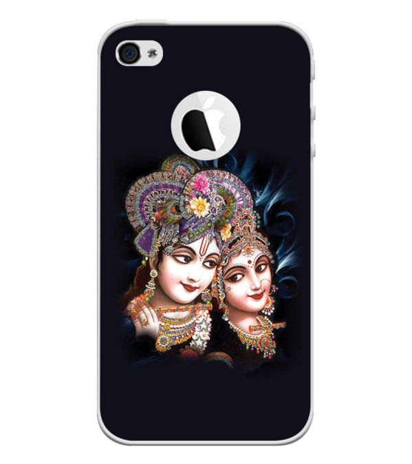 Radha And Krishna Back Cover for Apple iPhone 4 and iPhone 4S (Logo Cut)-Image3