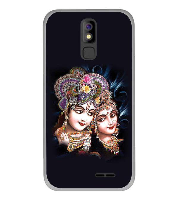 Radha And Krishna Back Cover for Panasonic P100