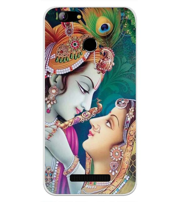 Radha Krishna Back Cover for Intex Aqua Lions X1-Image3
