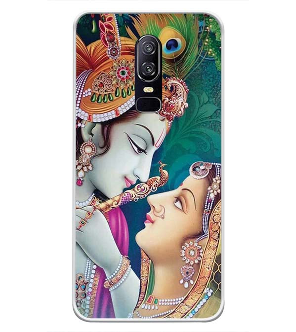 Radha Krishna Soft Silicone Back Cover for OnePlus 6