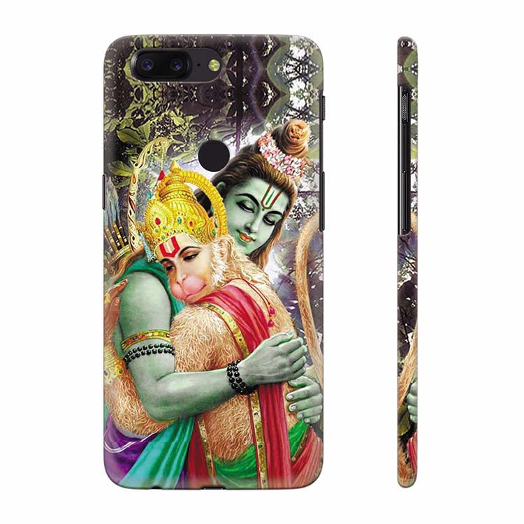 newest 88114 c0fab Ram And Hanuman Ji Back Cover for OnePlus 5T