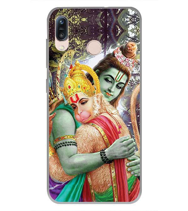 Ram And Hanuman Ji Soft Silicone Back Cover for Asus Zenfone Max Pro M1