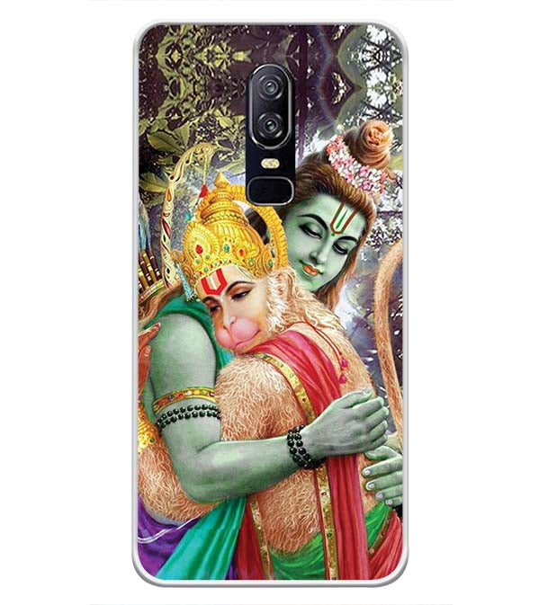 Ram And Hanuman Ji Soft Silicone Back Cover for OnePlus 6