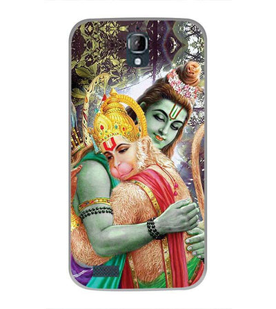 Ram And Hanuman Ji Back Cover for Panasonic Eluga Icon