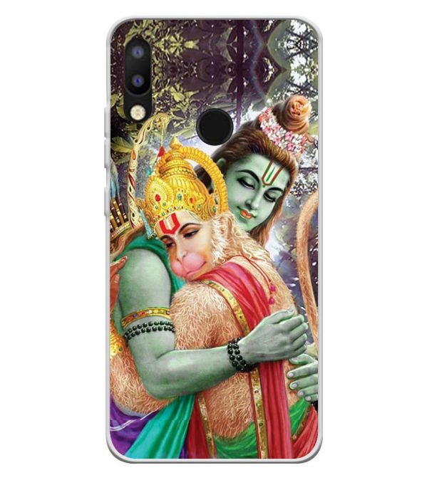 Ram And Hanuman Ji Soft Silicone Back Cover for Tecno Camon i2