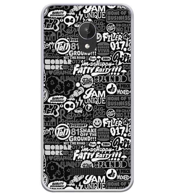 Random Quotes Soft Silicone Back Cover for Micromax Spark Q380