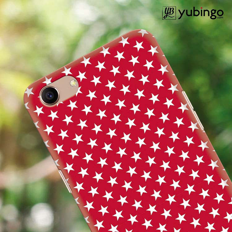 YuBingo - Buy Red Stars Mobile Cover for Oppo A83 in India