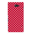Red Stars Back Cover for Sony Xperia M2
