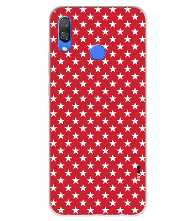 Red Stars Soft Silicone Back Cover for Huawei Y9 (2019)