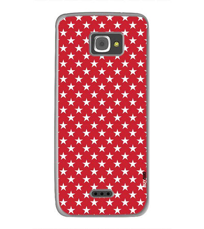 Red Stars Back Cover for InFocus M350