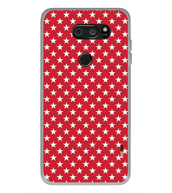 Red Stars Back Cover for LG V30 Plus